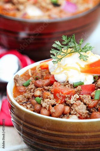 Chili Con Carne with Sour Cream