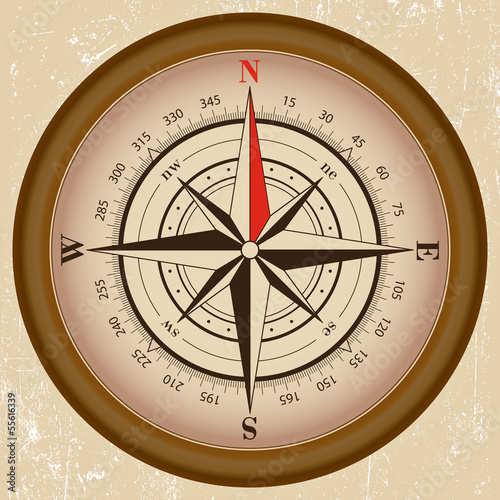 Fototapety, obrazy: old compass