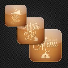Food And Drinks Menu Icon Set