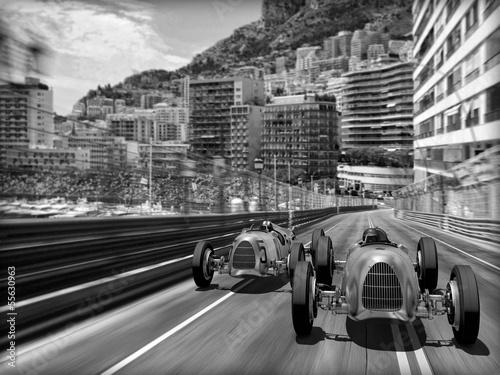 Obraz Carscene 132b - samochody retro - fototapety do salonu