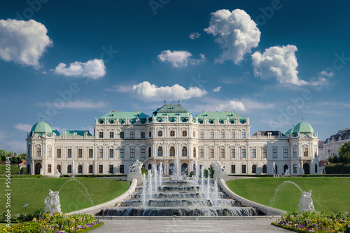 Deurstickers Wenen Schloss Belvedere in Wien