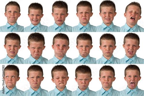 Valokuvatapetti Expressions - Nine Year Old Boy