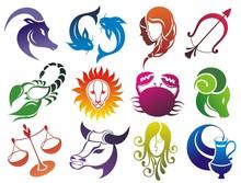 Set Of Zodiac Symbols. Isolate...