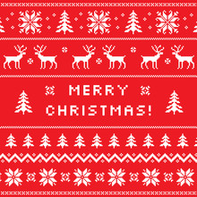 Merry Christmas Greeting Card,...