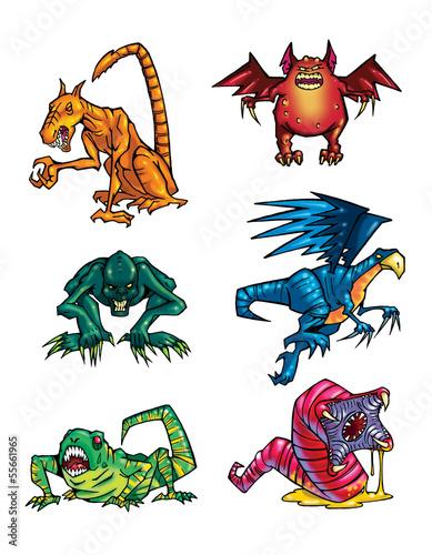 Poster Chambre d enfant Monsters