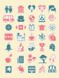 School and Education vector Icon Set.