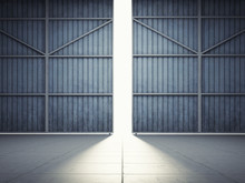 Light From Hangar Doors