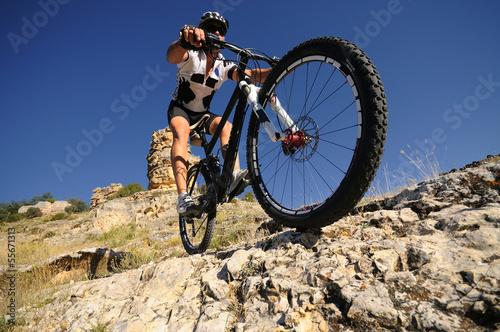 downhill rider Canvas Print