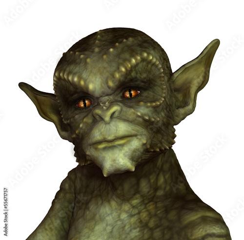 Fotografía  Green Reptilian Alien