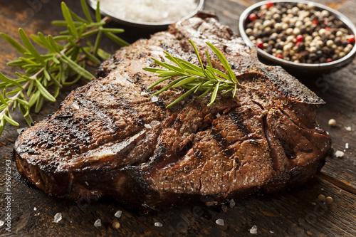 Grilled BBQ T-Bone Steak Tablou Canvas