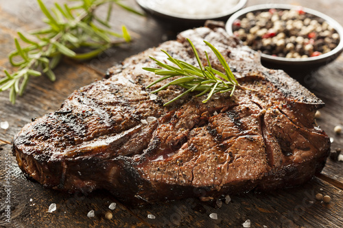 Grilled BBQ T-Bone Steak Canvas Print