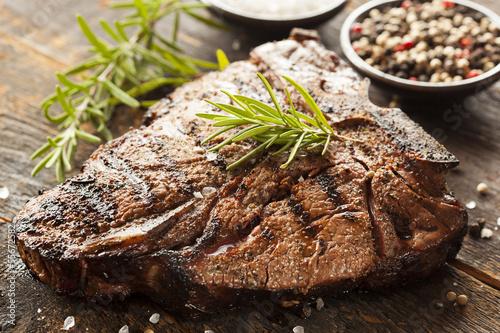 Grilled BBQ T-Bone Steak Poster