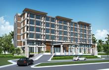 3D Render Of Tropical Hotel Bu...