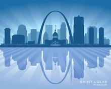 Saint Louis Missouri City Skyline Vector Silhouette