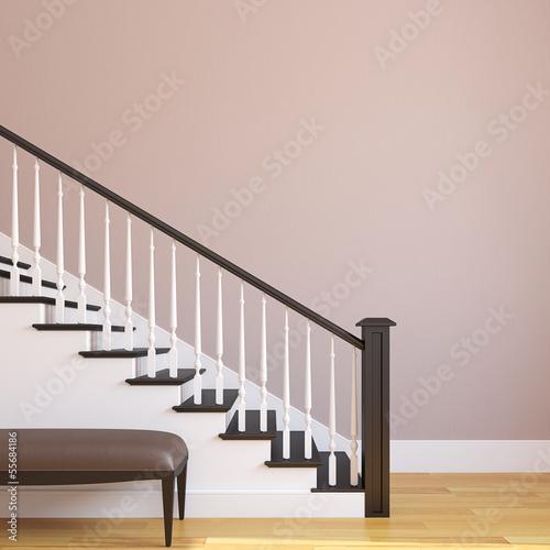 Fototapeta Stairway in the modern house. obraz na płótnie