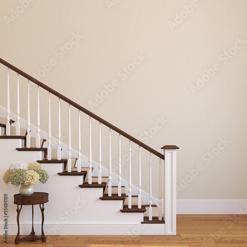 Stairway in the modern house. Fototapete
