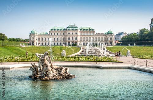 Garden Poster Vienna Famous Schloss Belvedere in Vienna, Austria