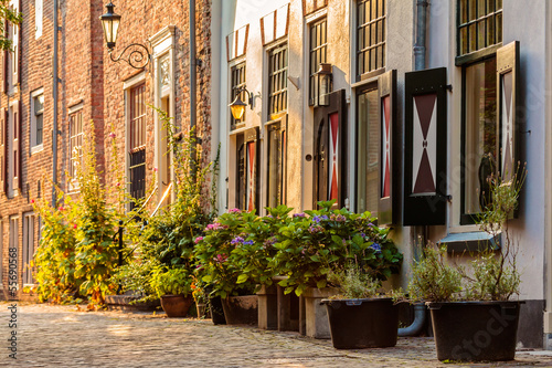 Photo Old houses in the historic center of the Dutch city Amersfoort