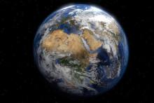 La Planète Terre Centrée Sur Le Continent Africain