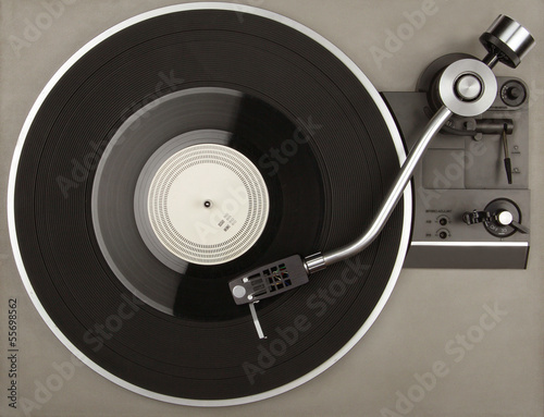 Fotomural Record player with phonorecord