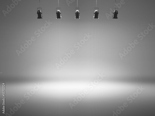 Recess Fitting Light, shadow grey spotlight background with lamps