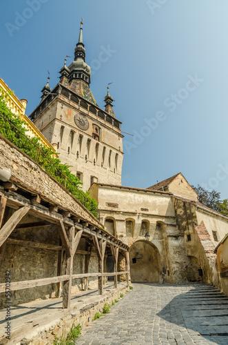 Fotografie, Obraz  Medieval Clock Tower In Sighisoara, Romania