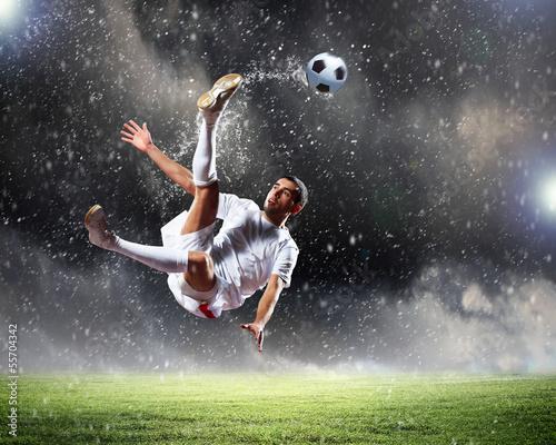 Foto-Schmutzfangmatte - Football player (von Sergey Nivens)