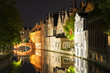 canvas print picture - Canal Houses Bruges