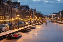 Frozen Dutch Canal