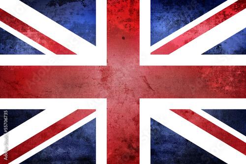 Cuadros en Lienzo Grunge United Kingdom Flag