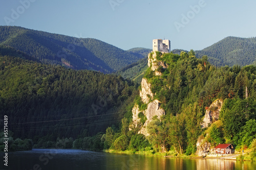 Poster Ruine Slovakia - Ruin of castle Strecno