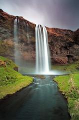 Fototapeta Góry Iceland waterfall - Seljalandsfoss