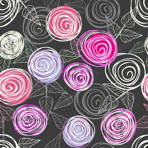 Tuinposter Abstract bloemen Abstract rose background