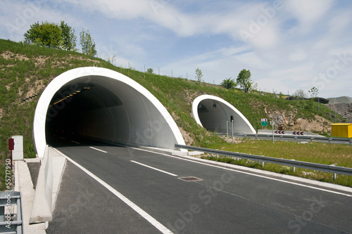 Fototapeten Tunel Rozman Hill Tunnel on the A1 highway in Croatia