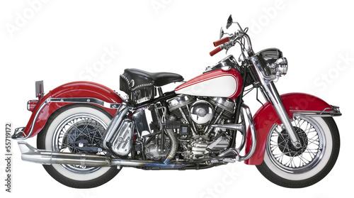 vintage motorcycle Canvas