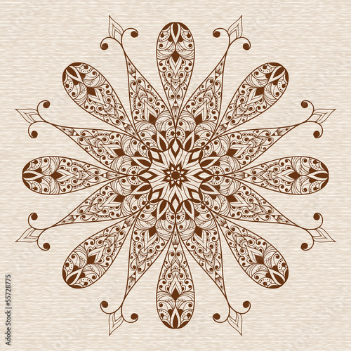 Valokuva  Vector Abstract Ethnic  Floral Design Element