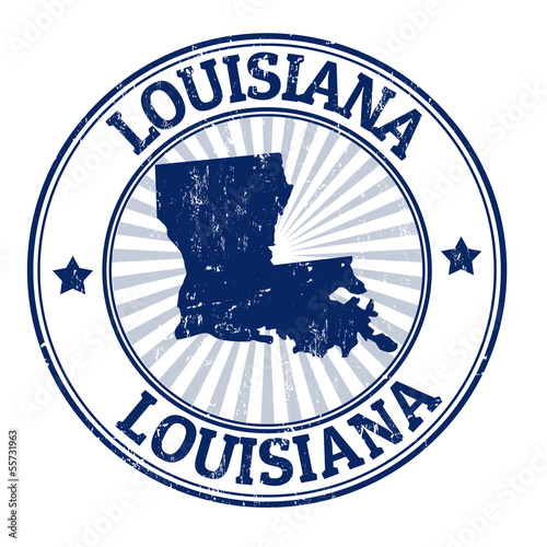 Louisiana stamp Canvas