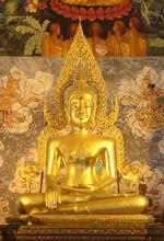 Old Buddha In Phrathat Chohae Temple, Prae, Thailand
