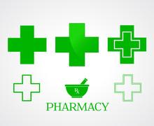 Pharmacy Symbols - Vector
