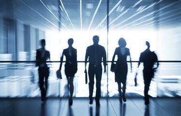 Naklejka silhouettes of businesspeople