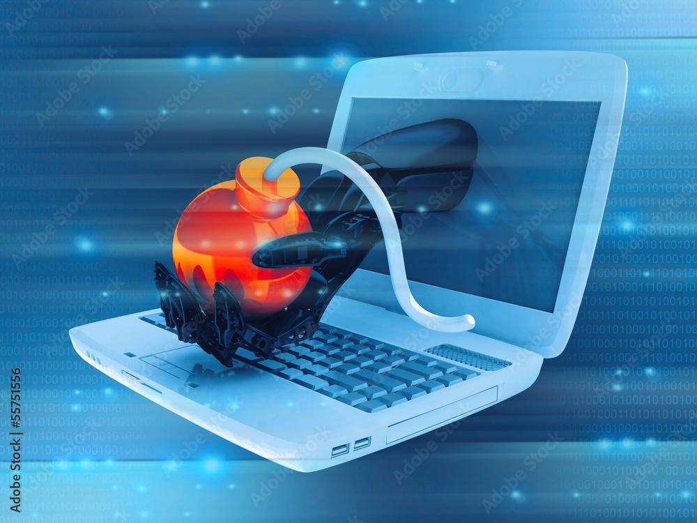 Fototapeta Cyber attack