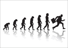 Evolution Running Businessman