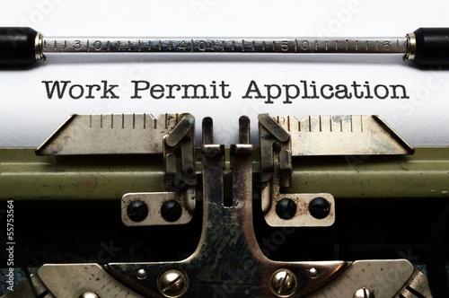 Fotografía  Work permit application