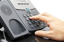 Businessman Is Dialing Phone Number