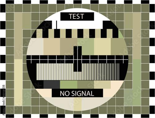 Fototapeta TV color test in sepia colors - illustration obraz na płótnie