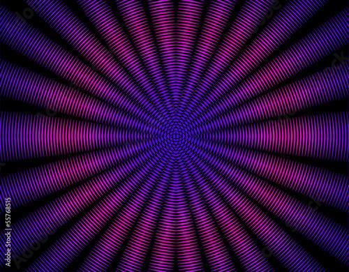Fotografie, Obraz  Beautiful purple pink  rays abstract interference pattern