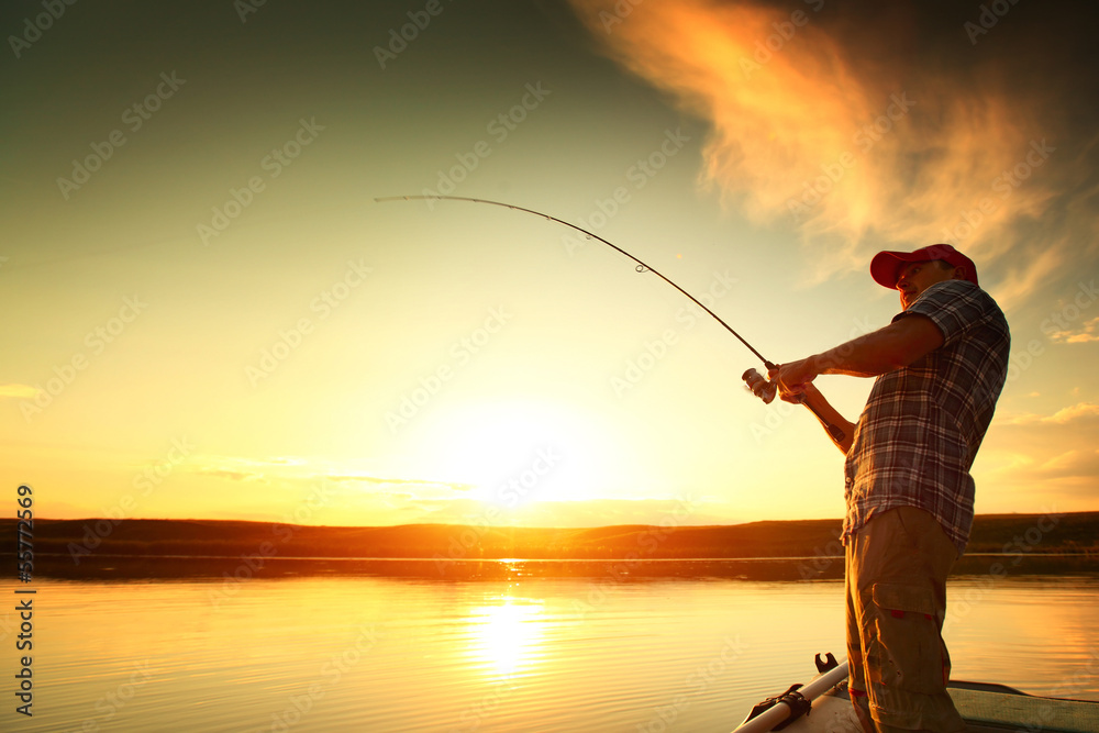 Foto-Flächenvorhang ohne Schienensystem - Fishing