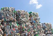 Stack Of Plastic Bottles For R...