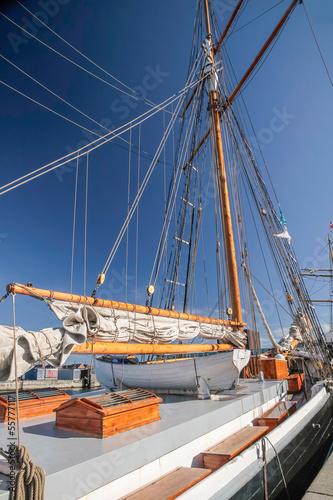 Photo Stands Rotterdam Großes, altes Segelschiff