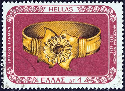 Fotografering  Gold bracelet  from Mycenae (Greece 1976)